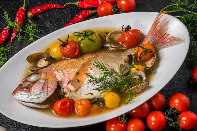 大きな魚の料理